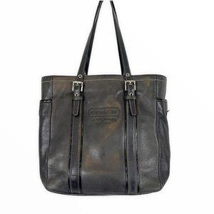 COACH Black Leather Tote G3Q-9779